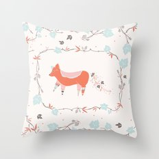 fox & grapes Throw Pillow