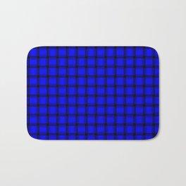 Small Blue Weave Bath Mat