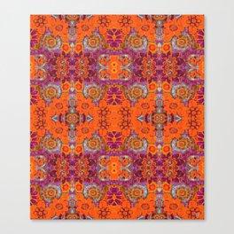 Boho Hippie Garden Pattern Canvas Print