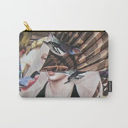 Madchen_Portrait with (Dark Jungle) Carry-All Pouch