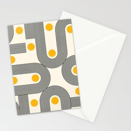 Abstraction_NEW_SUNSHINE_LINE_PATTERN_POP_ART_688B Stationery Cards