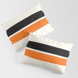 2 Stripes Black Orange Pillow Sham