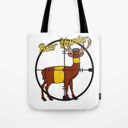 Deer Beer Bottle Cross Hair Hunter Shooting Party Bar Alcohol Gift Idea Tote Bag