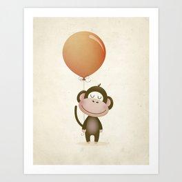 Monkey Print Art Print