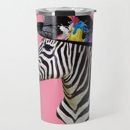 Crazy Zebra Travel Mug