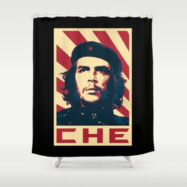 Che Guevara Retro Propaganda Shower Curtain
