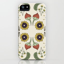 Flora Pattern I Light iPhone Case