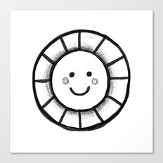 Sunny time smiley face Canvas Print