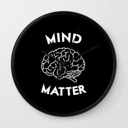 Mind Over Matter Wall Clock