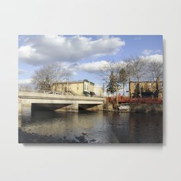 By the river 4 Metal Print