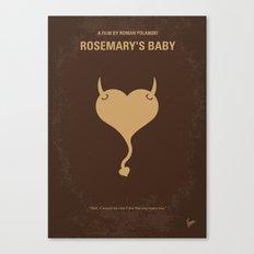 No132 My Rosemarys Baby minimal movie poster Canvas Print
