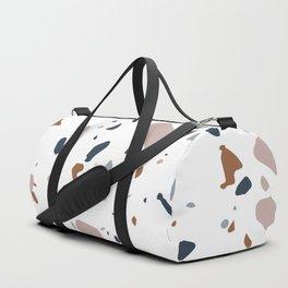 Navy, Mustard, Dusty Pink Terrazzo Pattern Duffle Bag