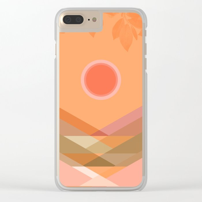 Summer Time 8 Clear iPhone Case