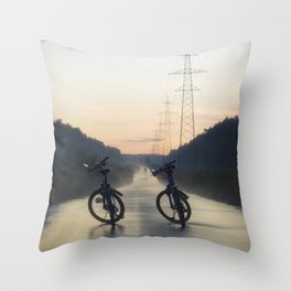 Evening Road after Rain Throw Pillow