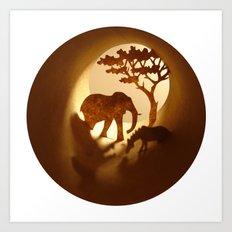 Africa (Afrique) Art Print