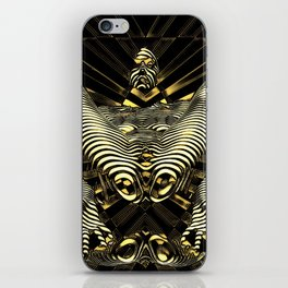 8788-KMA Resistance is Futile Gold Android Ready to Serve Abstract Sensual Figure iPhone Skin