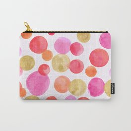 Shimmering Pink & Gold Bubbles Carry-All Pouch