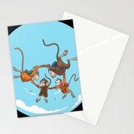 Parachutist 4er formation Stationery Cards
