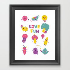 love fun Framed Art Print