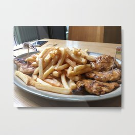 For the Love of Chicken and Fries! Metal Print