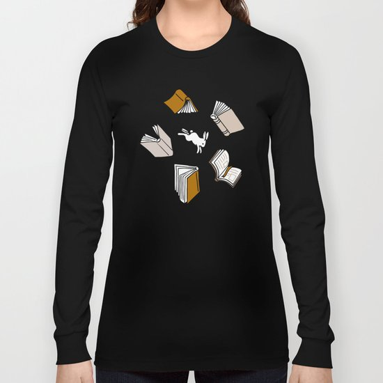 Books: Through the rabbit hole_Moka Long Sleeve T-shirt