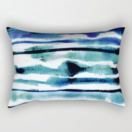 Laguna Watercolor Stripe Rectangular Pillow