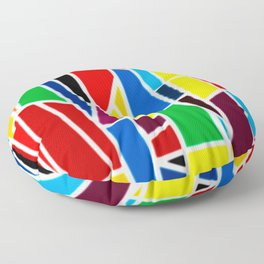 Geometric Shapes - bold and bright Floor Pillow