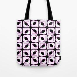 Tubes in Cubes Pink on Black Tote Bag