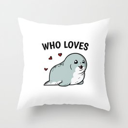 Just A Girl Who Loves Seals Cute Seal Costume Throw Pillow