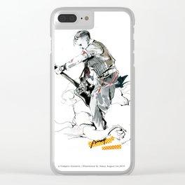 a vampire guitarist Clear iPhone Case