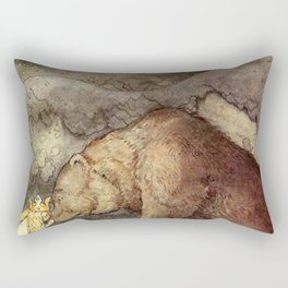 John Bauer Kissed the Bear On The Nose 1907 Reproduction Young Princess Bear Fairy Tale Rectangular Pillow