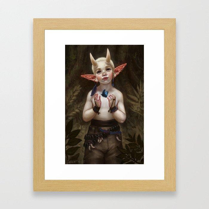 Child of the Forest Framed Art Print