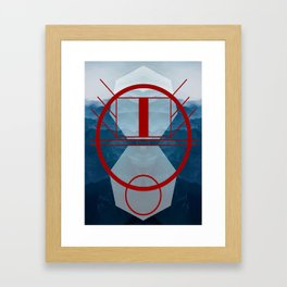 Look at that RED Framed Art Print