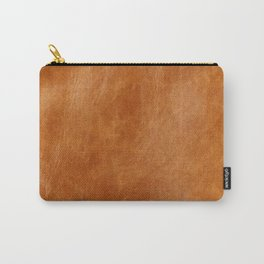 Rustic ginger smooth natural brown leather, vintage nature texture Carry-All Pouch
