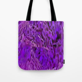 Distressed Violet Tree Bark Abstract Tote Bag