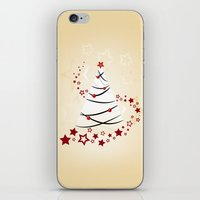 christmas tree iPhone & iPod Skins featuring christmas tree by Li-Bro