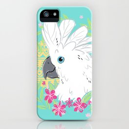 Umbrella Cockatoo iPhone Case