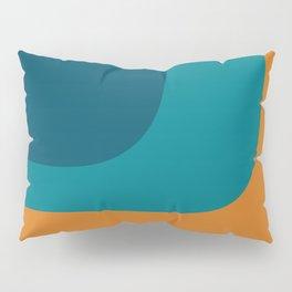 Triple Wave Minimalist Pattern Teal Pumpkin Pillow Sham