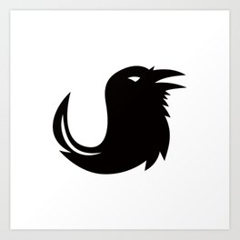 Crow Quill Pen Tail Icon Art Print