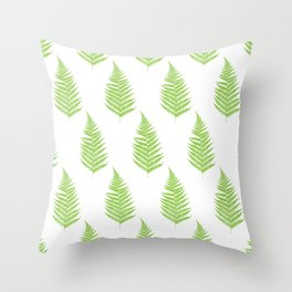 Fern frond silhouettes seamless pattern. Throw Pillow