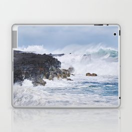 Crashing Waves on Lava Rock Cliffs Laptop & iPad Skin
