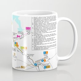 New York City Metro Subway Map Coffee Mug