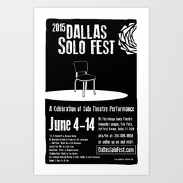 Dallas Solo Fest 2015 Poster Art Print