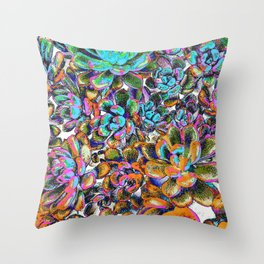 Floral tribute [galaxy] Throw Pillow