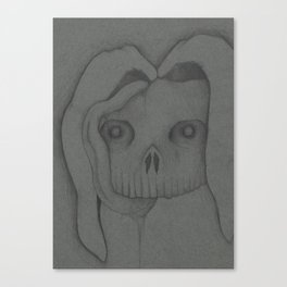 Nightmare Bunny Rabbit Skull Canvas Print