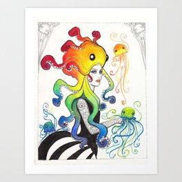 Empress of the Jellies Art Print