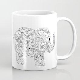 Elephant in Doodles Coffee Mug