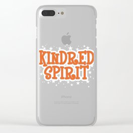 Kindred Spirit T-shirt Design Connection Of Two People Destined Looking For Each Other Taking Care Clear iPhone Case