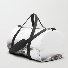 Winter comes to mountains Duffle Bag