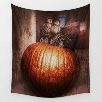 pumpkin Wall Tapestries featuring Pumpkin Time by Geni